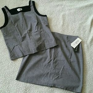 NWT Checkered Skirt & Top set size 14